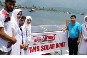 Aryans Engineering students made Solar Boat