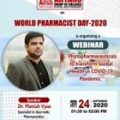 Webinar on 24th September at 01:30 pm- World Pharmacist Day-2020