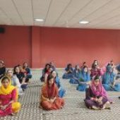 Bhog of Akhand Path held at Aryans on the commencement of 15th Academic Session